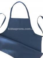 Kids Apron Cotton Navy Blue