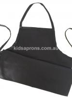 Kids Apron Cotton Black