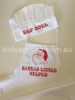 Personalised Kids XMAS Apron and Chef Hat