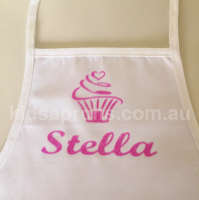 Personalised Kids Apron Vinyl Transfer-Glitter