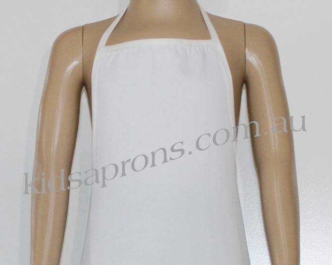 Kids Apron white Cotton/Polyester