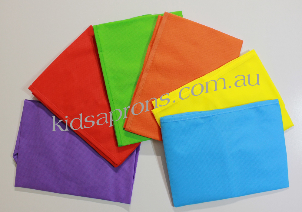 Kids Aprons 6pk-Multicoloured-non woven