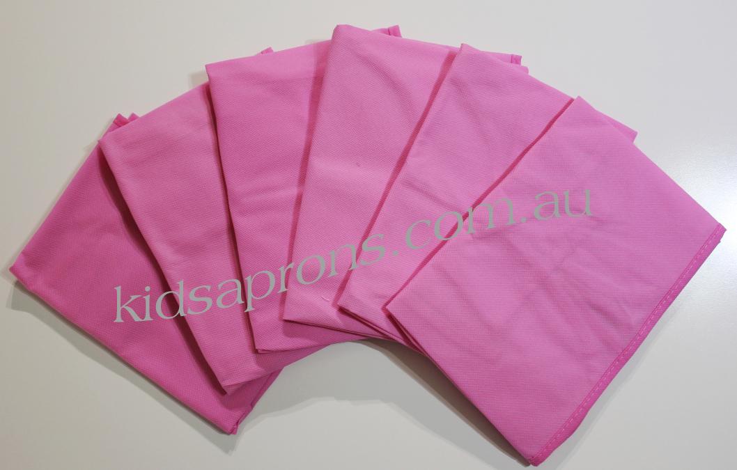 Kids Aprons 6pk-Pink-non woven