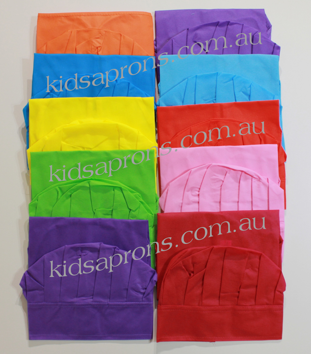 Kids Aprons and Hats-10pk-Multicoloured