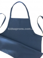 Kids Apron Cotton/Polyester Navy Blue