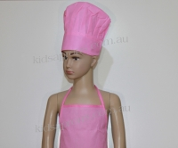 Kids Apron and Hat -Pink- non woven