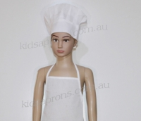 Kids Apron and Hat-white-non woven