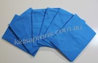 Kids Aprons 6pk-Blue-non woven