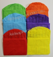 Kids Aprons and Hats-6pk-Multicoloured-non woven