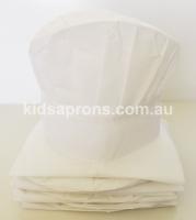 Kids Aprons and Hats-6pk-White-non woven