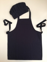 Kids Apron and Chef Hat 100% Cotton Dark Blue
