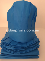 Kids Aprons and Hats-6pk Blue-non woven