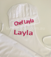 Personalised Kids Apron and Chef Hat Vinyl Transfer-Smooth